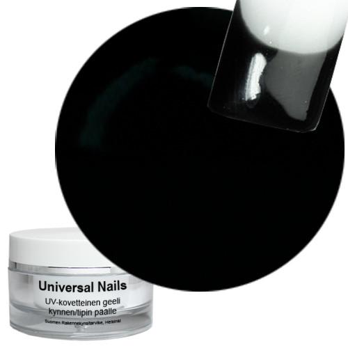 Universal Nails Musta UV/LED värigeeli 10 g