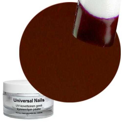 Universal Nails Tumman Punainen UV värigeeli 10 g
