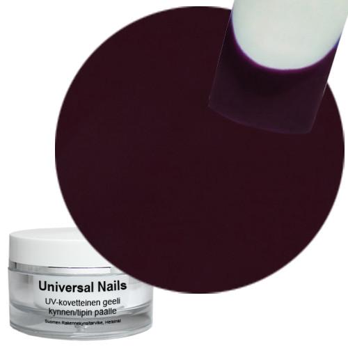 Universal Nails Tumma Purppura UV värigeeli 10 g