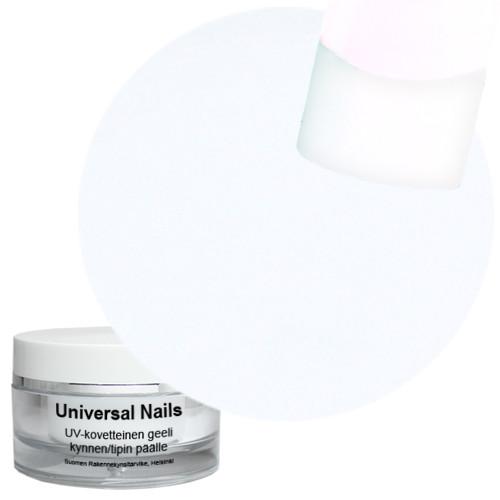 Universal Nails Valkoinen UV/LED värigeeli 10 g