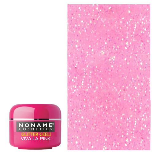 Noname Cosmetics Viva la Pink Glitter UV geeli 5 g
