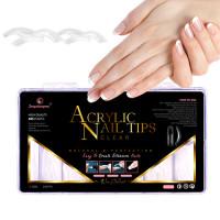 Noname Cosmetics Powder Polygel Acrylic Nail Tips kirkkaat tipit 240 kpl