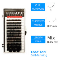 Noname Cosmetics Easy Fan Volyymiripset D 0.05 / 8-15mm