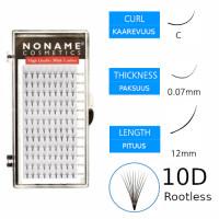 Noname Cosmetics Premade Fans Rootless 10D Volyymiripsiviuhkat C 0.07 / 12mm