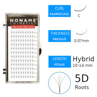 Noname Cosmetics Premade Fans Roots 5D Volyymiripsiviuhkat C 0.07 / hybrid 10-14mm