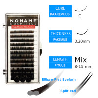 Noname Cosmetics Ellipse Flat Pidennysripset C 0.20 / 8-15mm