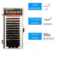 Noname Cosmetics Pidennysripset D 0.25 / 8-15mm