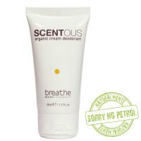 Naturalmente Breathe Scentous Organic Cream deodorantti 50 mL