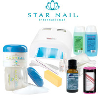 Star Nail Acrygel Mini Paketti Promed UVL-36 UV-uunilla