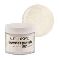 Cuccio White Silver Mica Dip Powder Polish dippipuuteri 45 g