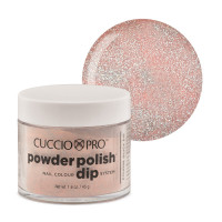 Cuccio Light Pink Glitter Dip Powder Polish dippipuuteri 45 g