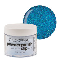 Cuccio Deep Blue Glitter Powder Polish dippipuuteri 45 g
