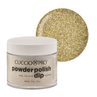 Cuccio Rich Gold Glitter Powder Polish dippipuuteri 45 g