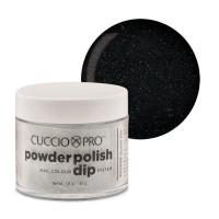 Cuccio Black Glitter Powder Polish dippipuuteri 45 g
