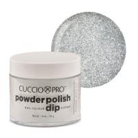 Cuccio Platinum Silver Glitter Dip Powder Polish dippipuuteri 45 g