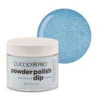 Cuccio Baby Blue Glitter Powder Polish dippipuuteri 45 g