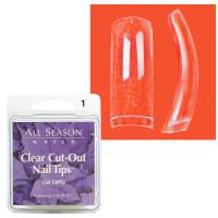 Star Nail Clear Cut Tipit täyttöpakkaus koko 1 50 kpl