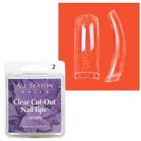 Star Nail Clear Cut Tipit täyttöpakkaus koko 2 50 kpl