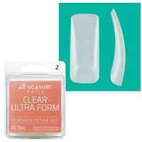 Star Nail Clear Ultra Form Tipit täyttöpakkaus koko 2 50 kpl
