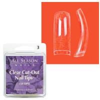 Star Nail Clear Cut Tipit täyttöpakkaus koko 3 50 kpl