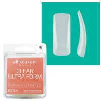 Star Nail Clear Ultra Form Tipit täyttöpakkaus koko 5 50 kpl