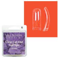 Star Nail Clear Cut Tipit täyttöpakkaus koko 6 50 kpl