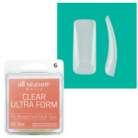 Star Nail Clear Ultra Form Tipit täyttöpakkaus koko 6 50 kpl