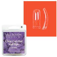 Star Nail Clear Cut Tipit täyttöpakkaus koko 8 50 kpl