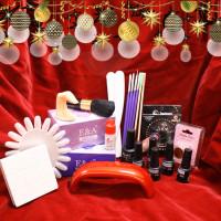 Noname Cosmetics Xmas Geelilakka-aloituspaketti Mini LED-uunilla