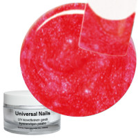 Universal Nails Groovy Red UV glittergeeli 10 g