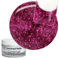 Universal Nails Think Pink UV glittergeeli 10 g