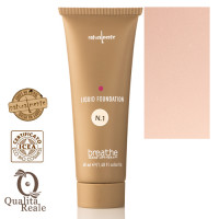 Naturalmente Breathe Liquid Foundation Meikkivoide Sävy 1 Rice 40 mL