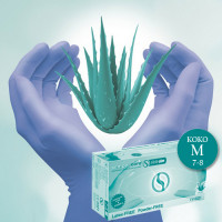Semperguard Aloe Vera & E-vitamiini Nitriilikäsineet M 200 kpl