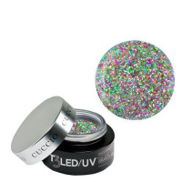 Cuccio Keke's Glitter T3 LED/UV Self Leveling Cool Cure geeli 28 g