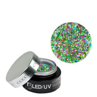 Cuccio Rainbow Bling T3 LED/UV Self Leveling Cool Cure geeli 28 g
