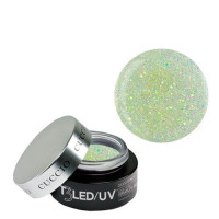 Cuccio Silver Sparkle T3 LED/UV Self Leveling Cool Cure geeli 28 g