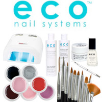 Eco Nail Systems Soak Off Aloituspaketti Promed All-In LED-uunilla