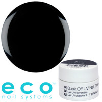 Eco Nail Systems Black Sand Eco Soak Off geelilakka 7 g