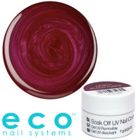 Eco Nail Systems North Beach Purple Eco Soak Off geelilakka 7 g