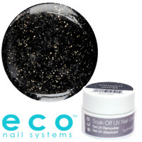 Eco Nail Systems Midnight Glitter Eco Soak Off geelilakka 7 g
