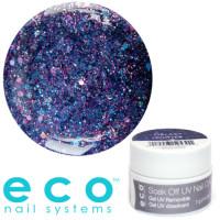 Eco Nail Systems Galaxy Glitter Eco Soak Off geelilakka 7 g