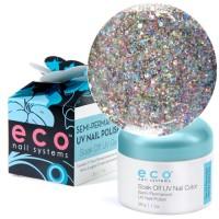 Eco Nail Systems Vegas Glitter Eco Soak Off geelilakka 28 g