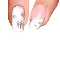 Trendy Nail Wraps Let it Snow White Kynsikalvo koko kynsi