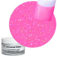 Universal Nails Roosa Sateenkaari UV/LED glittergeeli 10 g