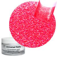 Universal Nails Punainen Helmiäinen UV glittergeeli 10 g