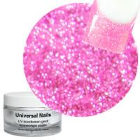 Universal Nails Vaalea Pinkki UV glittergeeli 10 g