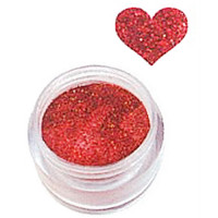 Sina Tumma Punainen Glitter akryylipuuteri 5,1 g