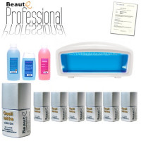 BeautQ Professional Geelilakka-aloituspaketti Cuccio MaxPro 2 LED-uunilla