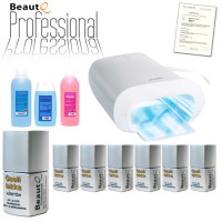 BeautQ Professional Geelilakka-aloituspaketti Promed UVL-36 S UV-uunilla