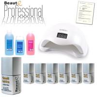BeautQ Professional Geelilakka-aloituspaketti SUN 5 UV & LED-uunilla